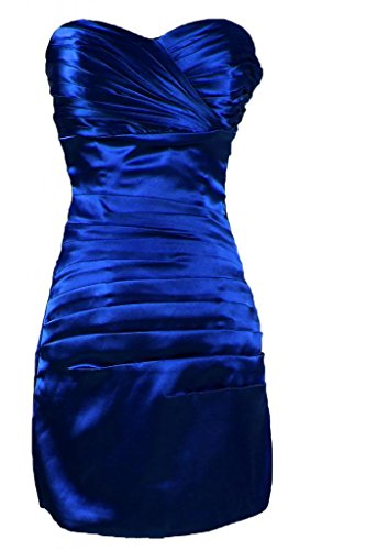 Sunvary semplice Abito corto da Cocktail, con fodero Bridemaid Dress Royal Blue
