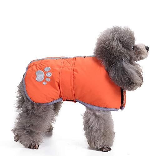 (Amphia - Haustier Hund Klettjacke Mantel Kleidung,Kaltes Wetter Hundemäntel Loft Reversible Winter Fleece Hundeweste Haustier Jacke(Orange,M))