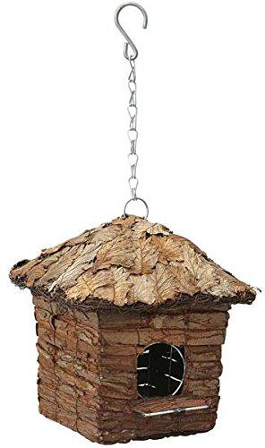 Galleria fotografica Verdemax 5738tetto coperto con foglie Square capanna casa per piccoli uccelli