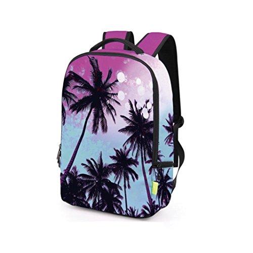 Lanspo 3D Galaxy Travel Satchel Rucksack Rucksack Schulter Bookbag Schulbeutel Unisex Damen Herren Outdoor Sport Camping Rucksack Creative Pop Bag D