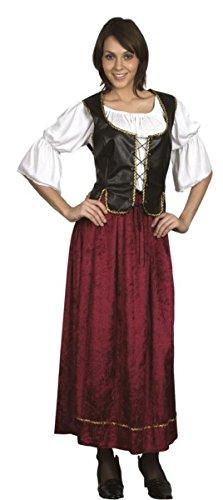 ,-Kostüm servante mittelalterlichen frau, Größe S/M Erwachsene ()