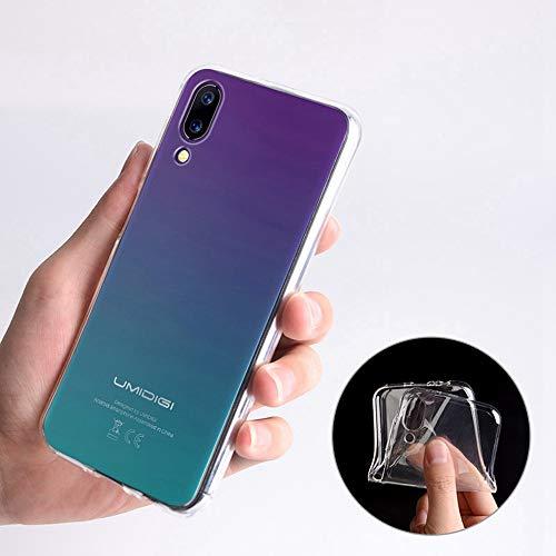 Ycloud Tasche für UMIDIGI One/UMIDIGI One Pro Hülle, Gute Qualität Telefonkasten Silikon-Softshell-TPU Handy case Backcover Handyhülle Cover Schutzhülle - Transparent