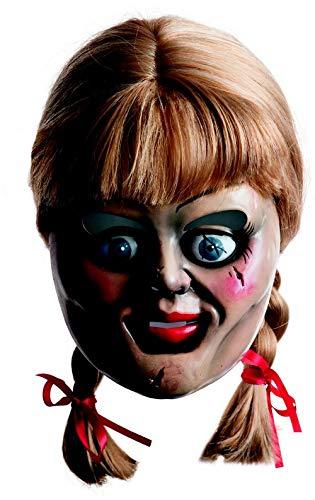 Rubie's Annabelle-Maske Horrorpuppen-Maske mit Haaren Lizenzware bunt -