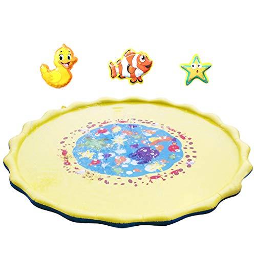 PHYNEDI Baby-Spielmatte, Wassermatte 170 x 170cm extra groß Kinder Wasser-Spielmatte mit Badespielzeug Wasserfüllung Wasserpark des Frühen Kindes