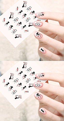 Jenna Water Transfer Nail Art Decals Stickers- Sapphire Series NR-189