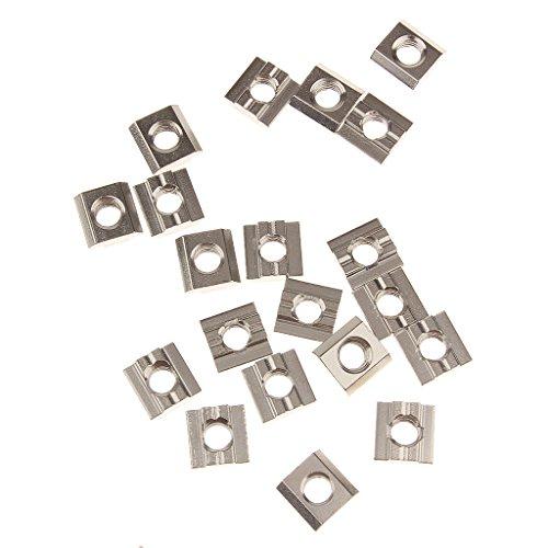 écrou Carré Bloc écrou Coulissant Pour 30 Séries Profilé En Aluminium Modèle Fente M8 - Serie 30, M8 15*15*6mm