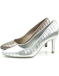 TAMARIS Damen Pumps Silber (Metallic)
