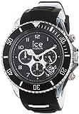 Ice-Watch - Ice Sporty Black White - Montre Noire pour Homme avec Bracelet en Silicone - 014613 (Extra Large)