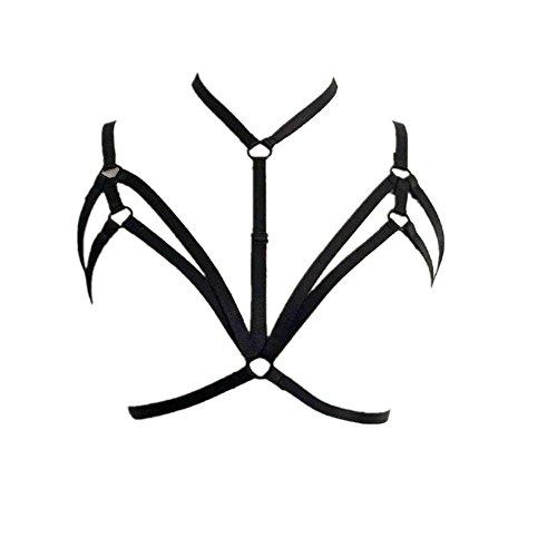 Sunnywill Büstenhalter Verführerische Frauen Harness BH elastischen Käfig BH Strappy hohl Bustier für Damen und Mädchen - Geliefert Halloween-geschenk-körbe