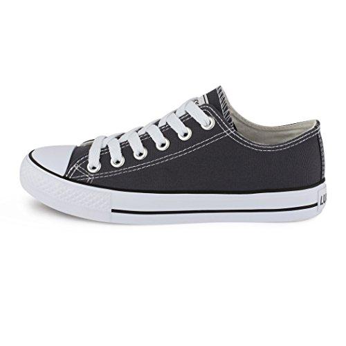 Best-Boots - Chaussure De Sport Femme - Sneakers Chaussure Basse Lacets Gris - Dunkelgrau