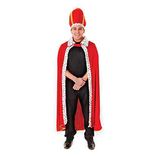 Und König Krone Kostüm Robe - King Robe & Hat - Adult Costume Man: STD. (to 44