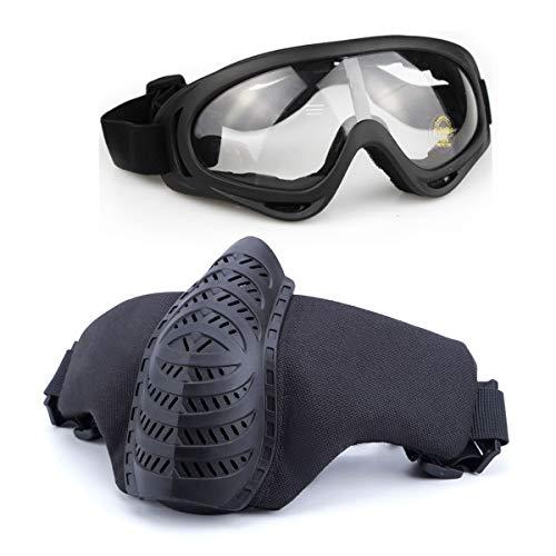Juego de máscara y Gafas de Airsoft