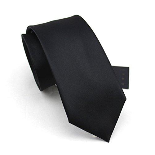 fan-tastik-mens-eco-friendly-handmade-solid-color-regular-width-tie-3-8cm-black