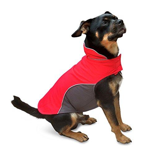 Hundejacke Warm, Innen mit Fleece, Hochwertiges Material, Atmungsaktiv und Wasserabweisend Hundemantel (Größe 14)