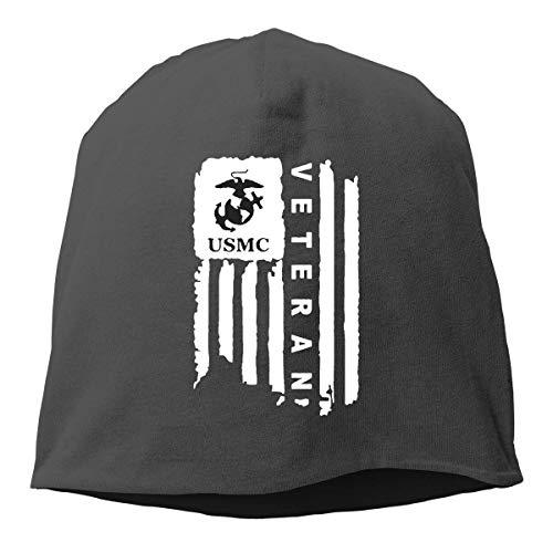 Marine Corps USMC Amerikanische Flagge Hedging Hut Unisex Schädel Hut Strickmütze Beanie Cap für Herbst/Winter Cap -