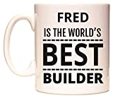 Best Fred & Friends Gift For Brothers - FRED is The World's Best Builder Mug Review