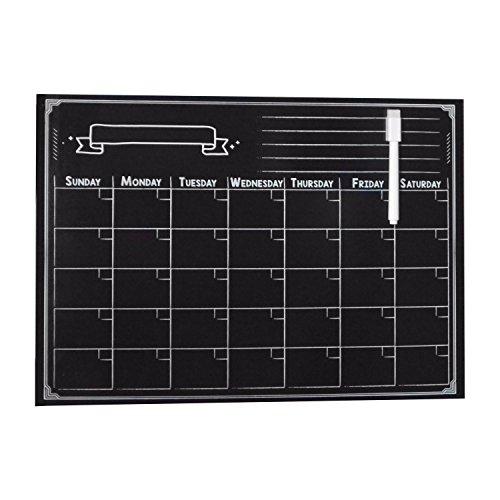 Weekly Smart Planer 's Magnetic Kühlschrank Kalender Dry Erase Board Planer Kalender für Küche Kühlschrank mit gratis Magnetic Dry Erase Marker enthalten (schwarz 420* 300mm)