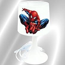 KidCrea KIKOUCAT-SPIDER - Lámpara de mesa infantil, diseño de Spiderman