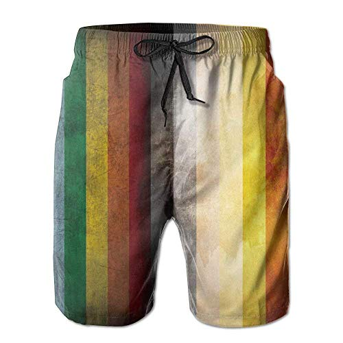 yting LGBT Bear Pride Flag Herren Sommer Strand Schnelltrocknende Surf Badehose Boardshorts Cargohose,Größe M -
