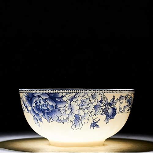 XXJ-Schüsseln Kreative Anti-Verbrühung Suppenschüssel Keramik Salatschüssel Obstteller Große Nudelschüssel Keramik Geschirr Blau Und Weiß Porzellan Glasur (Size : 18cm(7 inches)) -
