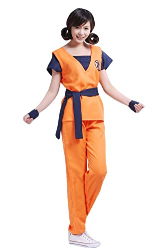 DRAGON BALL Son Goku Yellow Mixed Blue Coaplay Anime (Halloween Kostüm Goku Son)