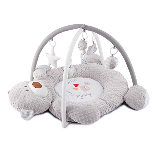 PUDDINGT® Erlebnisdecke, Baby Krabbeldecke Mit Spielzeug, MusikUnd Weichem Spielbogen, Ab Geburt Eisbär Baby-Fitnessstudio Gehirn Spiel
