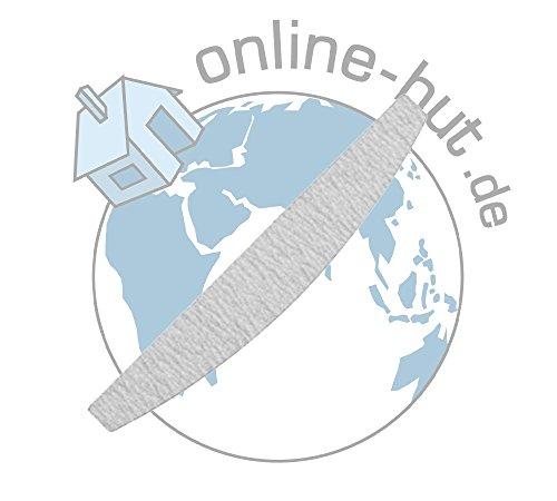 online-hut 10 x Wechselfeilen Halbmond Zebra Grit 100