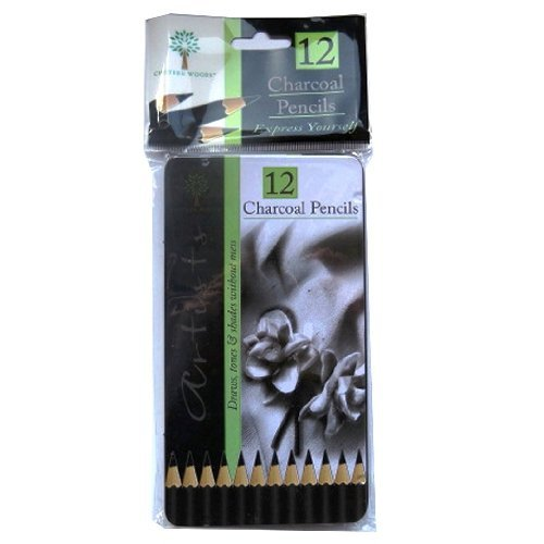 Charcoal Pencils - 12/Pack