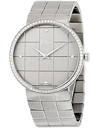 Dior la D de Dior Cadran argenté en acier inoxydable montre pour femme  Cd043113 m001 3c0fa21faac