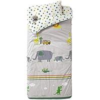 VERTBAUDET Listo para dormir con nórdico ropa de cama 4 piezas Jungla Gris Estampado 89