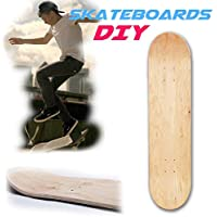 Gereton 8 Pulgadas 8-Layer Maple Blank Skateboards cóncavos Dobles Natural Skate Deck Board Skateboards Deck Wood Maple