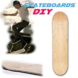 Gereton Skateboard Deck 8.0,Control Premium Blank Cruiser Decks 8-Layer Maple Wood Blank Double Concave Skateboards Cruiser Holz Deck (8inch)