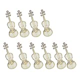 LEXPON 10 Stueck unvollendete Violine Sheap Holz Ausschnitt Chips Fuer Brettspiel Stuecke Kunsthandwerk Projekte Ornamente