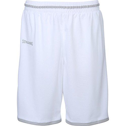 Spalding Move Herren Shorts, weiß/Silber grau, 4XL