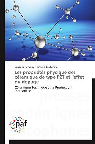 Les propriétés physique des céramique de type pzt et l'effet du dopage
