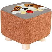 Preisvergleich für stool Massivholz Hause Quadrat Fußhocker ändern Schuhe Hocker für Erwachsene Kinder Sofa Hocker Fußstütze Sitz Kleiner Stuhl im Wohnzimmer Schlafzimmer Studie mit abnehmbarem Futter 28CM28CM25CM