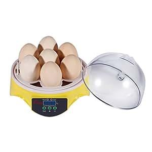 ICOCO Mini incubateur avec Affichage Digital, Couveuse Automatique peut accueillir 7 oeufs pour Eclore des œufs et des œufs de canard .