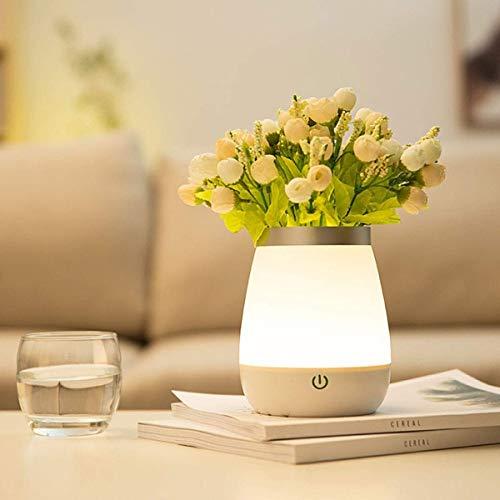 Fuudear Kreative Touch LED Vase Nachtlicht Schlafzimmer Nachttischlampe Lightable Fun Rose Topfblume Feuer Lampe - Geeignet for Familienzimmer Tisch Cafe und andere Gelegenheiten