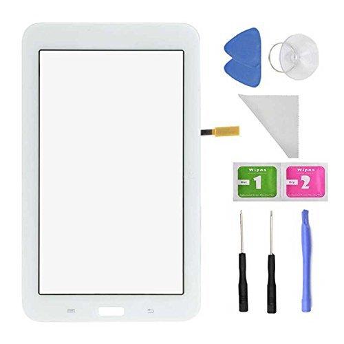 Ersatz-bildschirm 7 Galaxy Tab 3 (Touchscreen Digitizer für Samsung Galaxy Tab 3 Lite 7.0 / T110 (nur WiFi Version) (Weiß)+ vorinstallierten Klebstoff mit Tools)