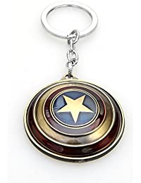 Captain america Avengers Shield Red and Copper Keychain