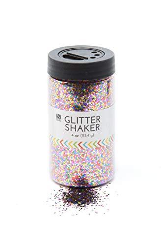 Glitzerglas mit glitzerndem Glitzer, 120 ml, ungiftig, wiederverwendbar, mit einfach zu bedienendem Shaker-Deckel - Allzweck-Einsatz für Scrapbooking, Basteln, lustige Projekte und mehr multi