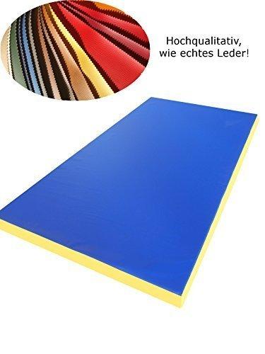 Weichbodenmatte Gymnastikmatte 200 x 100 x 8 cm Blau/Gelb