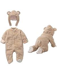 637310b10 Elonglin Unisex Newborn Infant Baby Hooded Detachable Winter Romper Animal  Jumpsuit Pajamas Boys Girls Long Sleeves