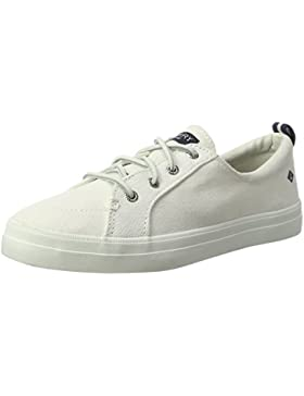 Sperry Damen Crest Vibe Wash Linen White Sneaker