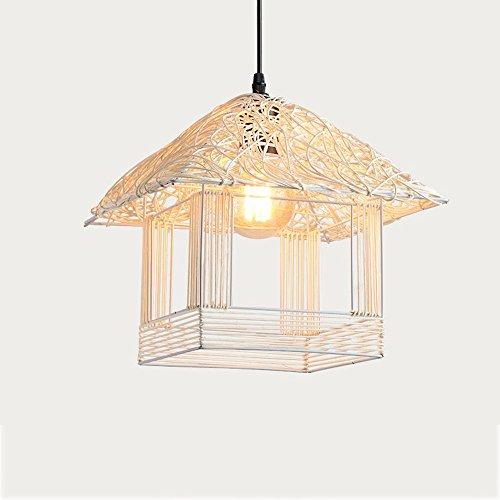 Ganeep Einfache Pastoralen Rattan Kleines Haus Hängeleuchten Kreative Persönlichkeit Restaurant Kronleuchter Wohnzimmer Lampe Schlafzimmer Lampe Beleuchtung