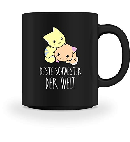 PlimPlom Beste Schwester Kaffeetasse Anime Katzen Tasse Für Kaffee Tee Kakao - Geschenk Idee -...