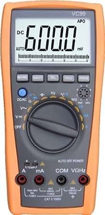 Aidetek VC99+ digital auto range multimeter Tester Capacitor Amp Voltage AC DC compared w/ FLUKE 15B