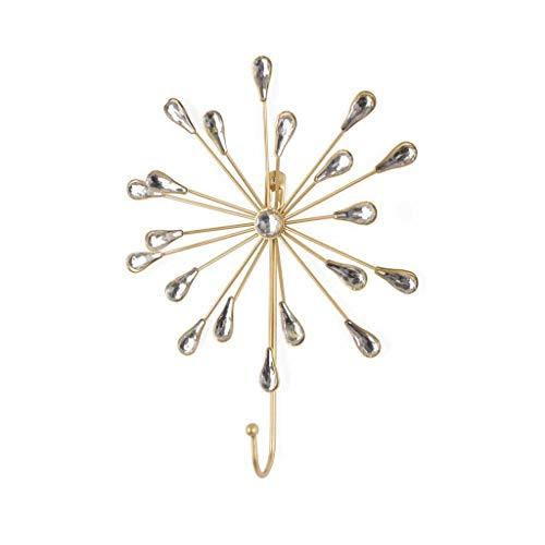 porte-manteau Vintage suspension Rococo décoratif - Dorado Métal Boho Chic - Hall d'entrée Salle de bain Entrée - lumière Belle et élégante - ethnique nordique. Extérieur 20 * 16 * 5cm