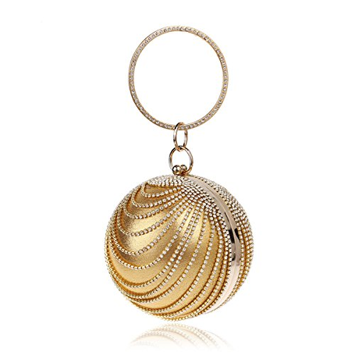 Flada, Poschette giorno donna oro Gold medium Gold
