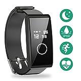 Braccialetto di Attività, METALBAY Tracker di Fitness Bracciale Sportivo con Cardiofrequenzimetro a Battito Cardiaco e Cardiofrequenzimetro, Bluetooth